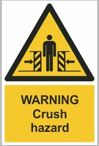 AGR012 - Warning, Crush hazard