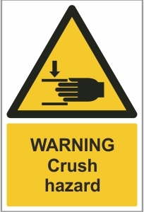 AGR013 - Warning, Crush hazard (hand)