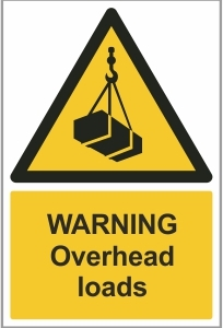 AGR014 - Warning, Overhead loads