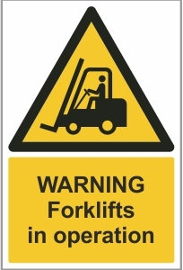 AGR015 - Warning, Forklifts in operation