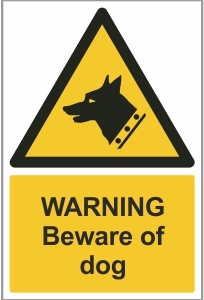 AGR017 - Warning, Beware of dog