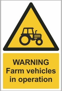 AGR021 - Warning, Farm vehicles in operation