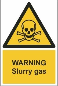 AGR006 - Warning, Slurry gas