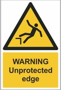 AGR010 - Warning, Unprotected edge