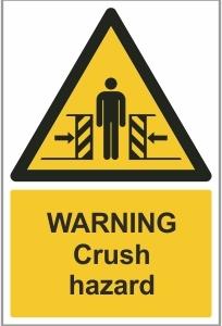 AGR012 - Warning, Crush hazard