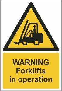 AGR015 - Warning, Forklifts in operation