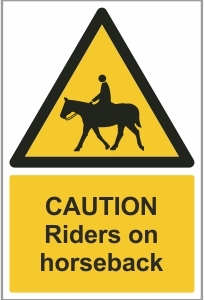 AGR022 - Caution, Riders on horseback