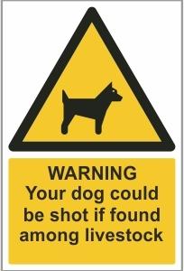 AGR023 - Warning, Your dog could be shot