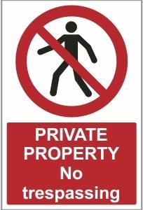 AGR026 - Private property, No trespassing