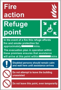 FIR002 - Fire action, Refuge point