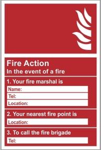 FIR003 - Fire action, information