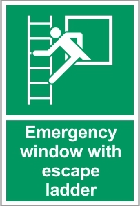 FIR019 - Emergency window with escape ladder