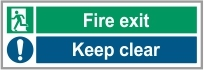 FIR037 - Fire exit, Keep clear
