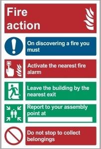FIR001 - Fire action
