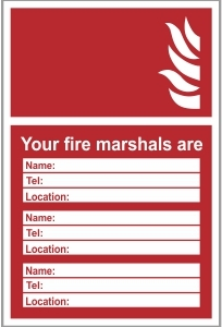 FIR004 - Your fire marshals are