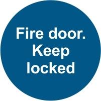 FIR042 - Fire door. Keep locked
