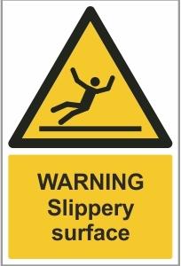 FOO012 - Warning, Slippery surface