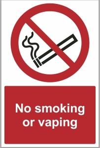 FOO019 - No smoking or vaping