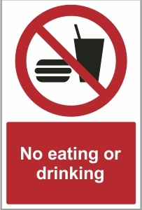 FOO020 - No eating or drinking