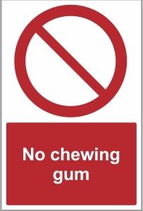 FOO024 - No chewing gum