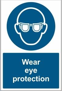 FOO027 - Wear eye protection