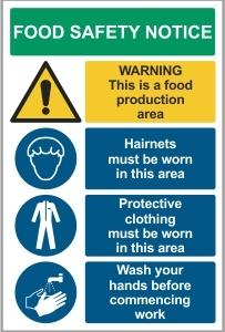 FOO001 - Food safety notice