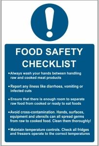 FOO002 - Food safety checklist