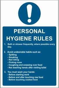 FOO003 - Personal hygiene rules