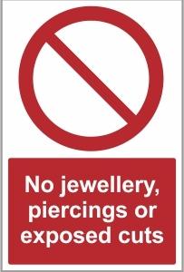 FOO025 - No jewellery, piercings or cuts