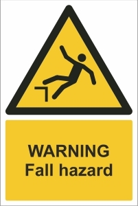 TOU007 - Warning, Fall hazard