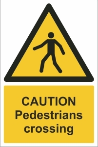 TOU010 - Caution, Pedestrians crossing