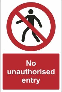 TOU014 - No unauthorised entry