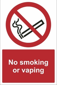 TOU015 - No smoking or vaping