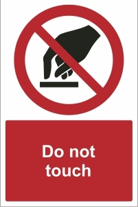 TOU025 - Do not touch