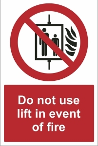 TOU026 - Do not use lift in event of fire