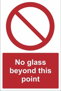 TOU027 - No glass beyond this point