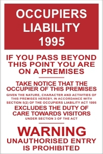 TOU043 - Occupiers liability