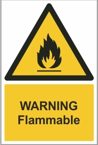 MED002 - Warning, Flammable