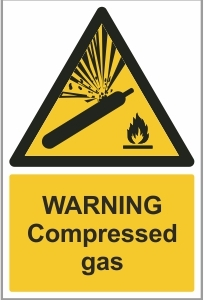 MED004 - Warning, Compressed gas