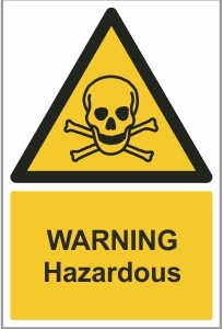 MED006 - Warning, Hazardous