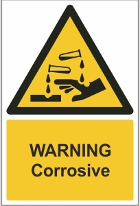 MED008 - Warning, Corrosive