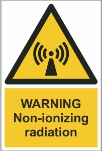 MED010 - Warning, Non-ionizing radiation