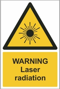 MED012 - Warning, Laser radiation