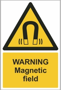 MED013 - Warning, Magnetic field