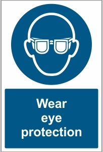 MED017 - Wear eye protection