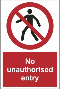 MED026 - No unauthorised entry