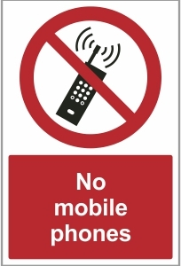 MED029 - No mobile phones