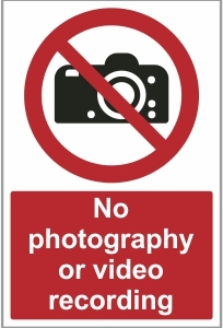 MED031 - No photography or video recording