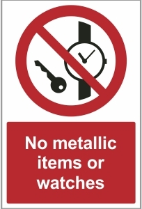 MED032 - No metallic items or watches