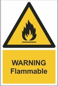 MED002 - Warning, Flammable